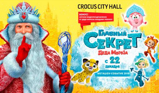 Новогоднее шоу «Главный секрет Деда Мороза» в Крокус Сити Холл - Билеты