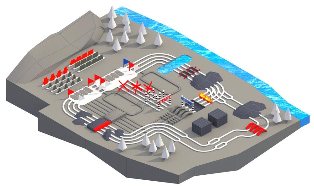 Схема зала Военного полигона Алабино