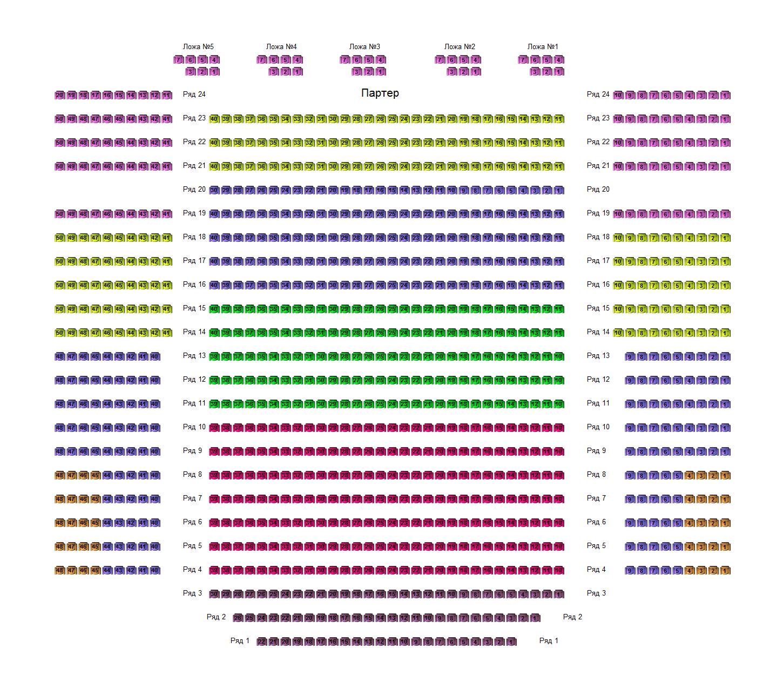 Схема зала Дома кино СК РФ